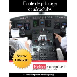 Fichier email des écoles de pilotage