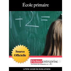 Fichier email des écoles primaires