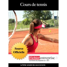 Fichier email des cours de tennis