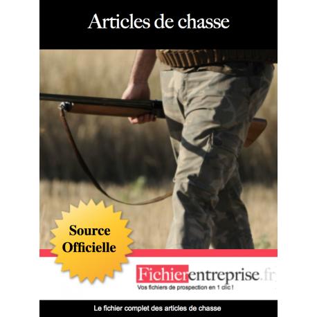 Fichier email des articles de chasse