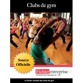 Fichier email des clubs de gym