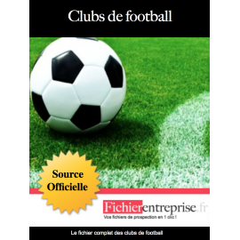 Fichier email des clubs de football