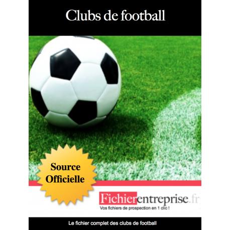Fichier email des clubs de football