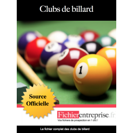 Fichier email des clubs de billards