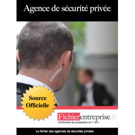 Fichier des agences de sécurités privées