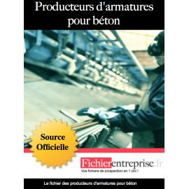 Fichier producteurs d'armatures pour béton