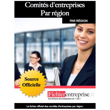 Fichier comités d'entreprise par région