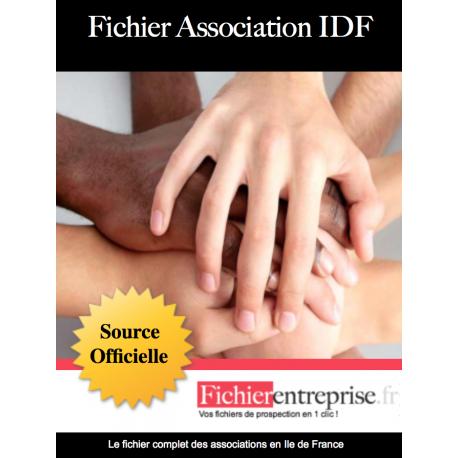 Fichier des associations Ile de France IDF