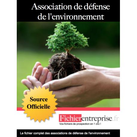 Fichier des associations environnementales