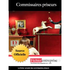 Fichier des commissaires priseurs