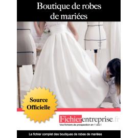Fichier des boutiques de robes de mariées