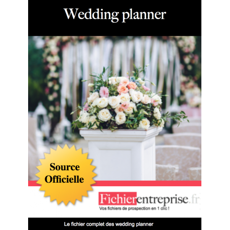 Fichier des wedding planner