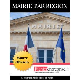 Fichier Mairies Auvergne-Rhône-Alpes