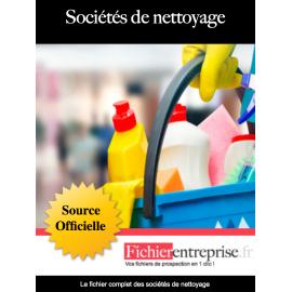 Fichier des sociétés de nettoyage