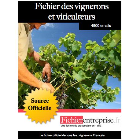 Fichier des vignerons et viticulteurs