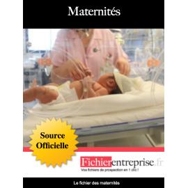 Fichier adresse email des maternités