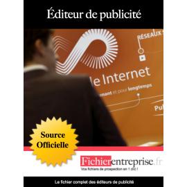 Fichier email des éditeurs de publicité