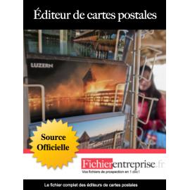 Fichier email des éditeurs de cartes postales