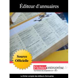 Fichier email des éditeurs d'annuaires
