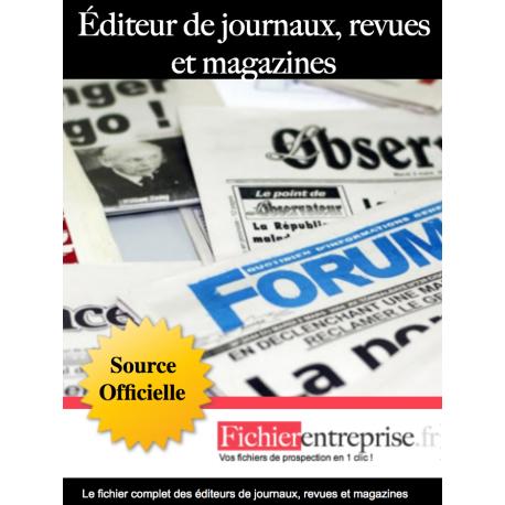 Fichier des éditeurs de journaux et revues