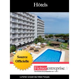 Fichier email des hôtels