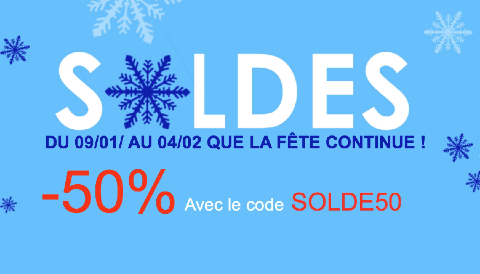 SOLDE HIVER -50%